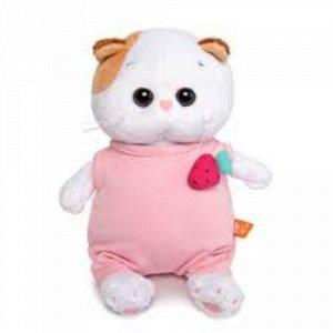 Кошечка Ли-Ли BABY в розовом комбинезоне с клубничкой 20 см