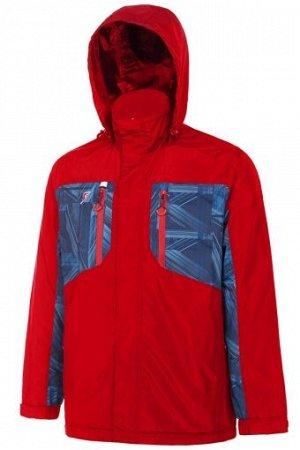 M09170G-RN182 Куртка на флисовой подкладке мужская (красный/синий), M, шт