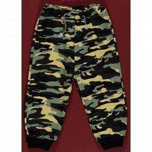 Спортивные штаны 398/1 (камуфляж, желто-зеленый(мелк)