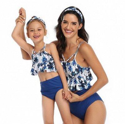 🔥Жаркие скидки на пляжный сезон-2020🔥 — Парные купальники для мам и дочек — Для девочек