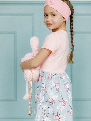 Платье Фламинго персик