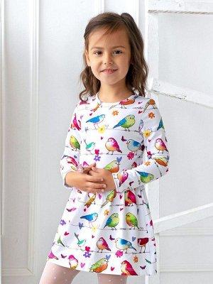 Платье Птички на ветке