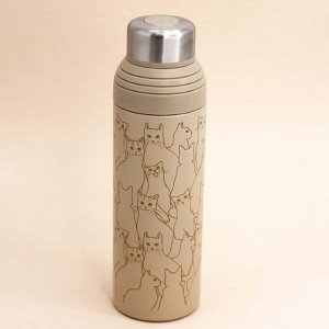 "Термос ""Cats"", gray (500ml)"