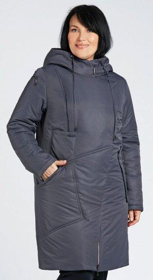 """Пальто """"Валенсия""""  темно-серый"""