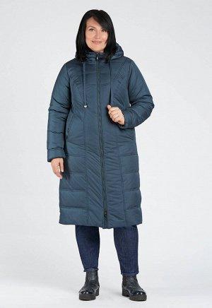 """Пальто """"Дариа""""  сине-зеленый"""