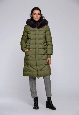 """Пальто """"Делия""""  зеленый"""