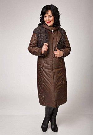 """Пальто """"Дечизо""""  коричневый"""