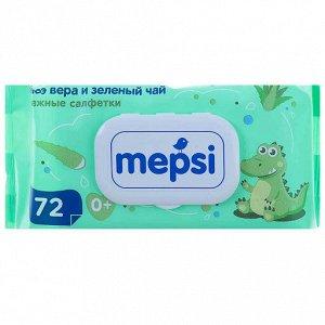 Влажные салфетки алое вера детские MEPSI 72 шт.