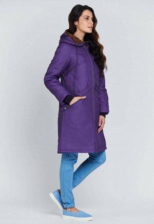"""Пальто """"Моника""""  фиолетовый"""