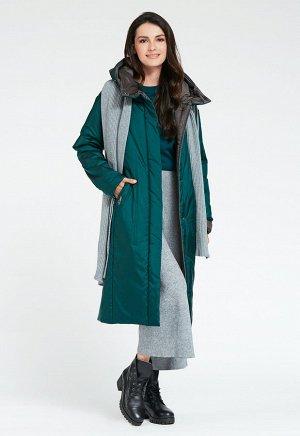 """Пальто """"Позитано""""  зеленый"""