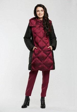 """Пальто """"Филиция""""  бордовый"""