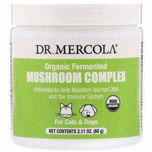 Dr. Mercola, Органический ферментированный комплекс с грибами, для кошек и собак, 60 г (2,11 унции)