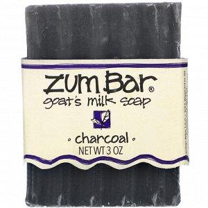 Indigo Wild, Zum Bar, Goat&#x27 - s Milk Soap, Charcoal, 3 oz