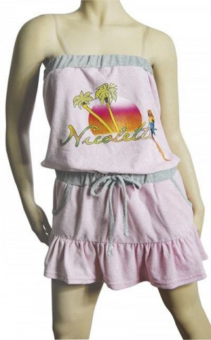 Сорочки для женщин (узкие бретельки/махро) 88122