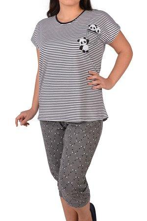 Пижамы для женщин с бриджами (короткий рукав) 26003