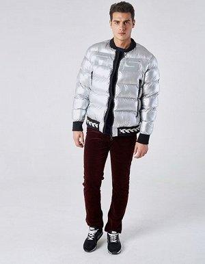 M08203FS-DD182 Куртка утепленная мужская (серебро), L, шт