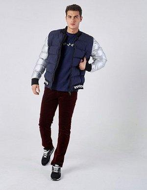 M08203FS-ND182 Куртка утепленная мужская (синий/серебро), XL, шт