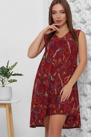 Платье 1859 бордовый