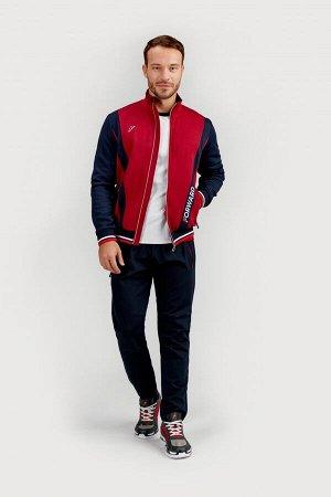 M04110G-NС201 Куртка тренировочная мужская (синий/бордовый), S, шт