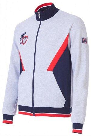 M04130G-GN182 Куртка тренировочная мужская (серый/синий), S, шт