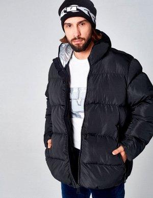 M08202FS-BB182 Куртка утепленная мужская (черный), S, шт