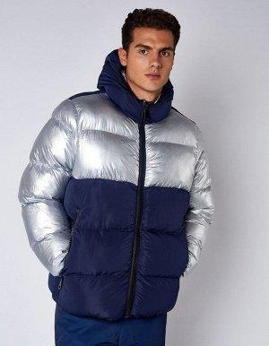 M08202FS-ND182 Куртка утепленная мужская (синий/серебро), L, шт
