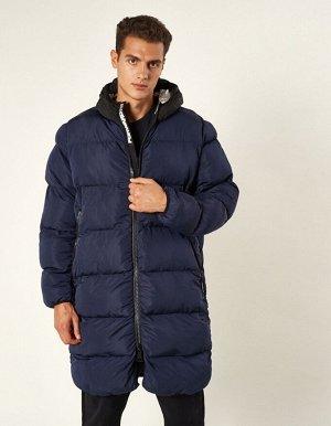 M08201FS-NB182 Пальто утепленное мужское (синий/черный), L, шт