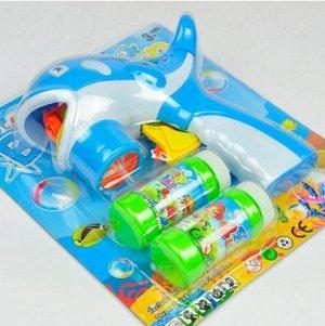 """Пистолет для мыльных пузырей """"Рыбка""""+пузыри"""