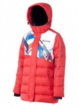 W08160G-RW172 Куртка пуховая женская (красный/белый), L, шт