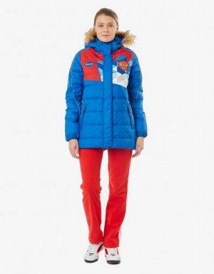 W08131G-FF172 Куртка пуховая женская (голубой/красный), XL, шт