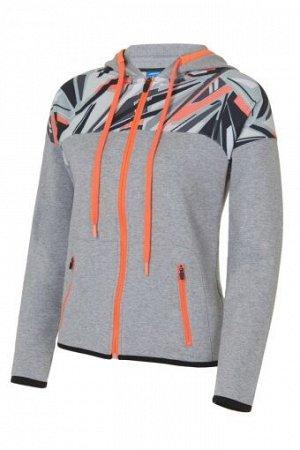 W04131F-WG181 Куртка тренировочная женская (белый/серый), 2XS, шт