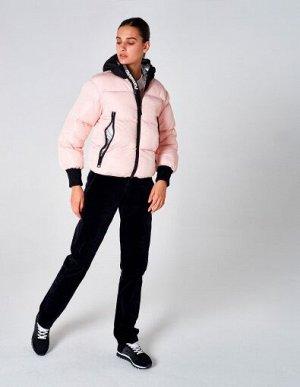 W08202FS-PB182 Куртка утепленная женская (розовый/черный), S, шт