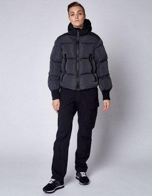 W08202FS-GB182 Куртка утепленная женская (серый/черный), S, шт