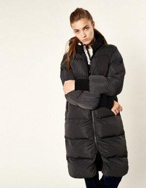 W08201FS-GB182 Пальто утепленное женское (серый/черный), M, шт