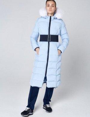 W08203FS-AA182 Пальто утепленное женское (голубой), M, шт