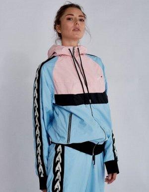 W05101FS-PA182 Куртка спортивная женская (розовый/голубой), L, шт