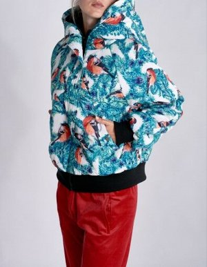 W08210FS-AW182 Куртка утепленная женская (голубой/белый), XS, шт