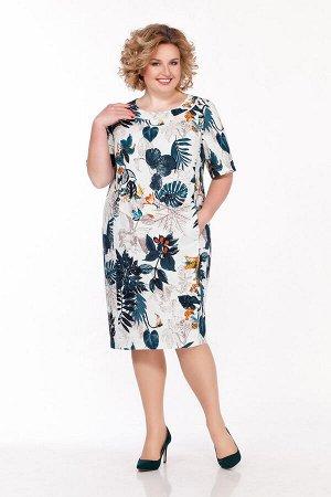 Платье LaKona 1193 молочно-бирюзовый