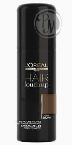 Loreal hair touch up консилер для волос light brown светло-коричневый 75мл габ