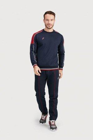 M04120G-NC201 Куртка тренировочная мужская (синий/бордовый), XS, шт