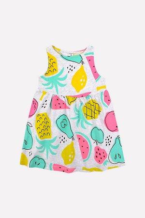 Платье(Осень-Зима)+girls (тропические фрукты на меланже)