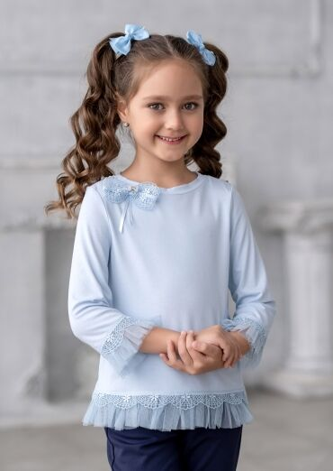 28*В школу, в садик и на праздник! Форма, банты, юбки и др — Блузки трикотажные — Одежда для девочек