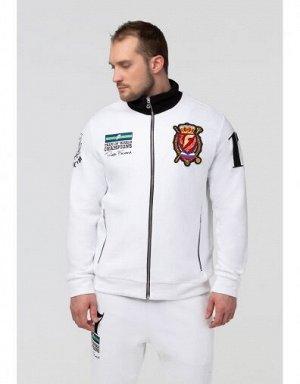 U04102FS-WB191 Куртка тренировочная унисекс (белый/черный), S, шт