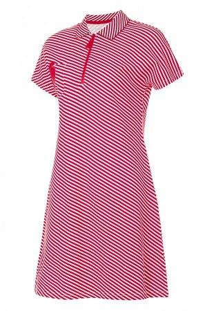 W13470SF-RB181 Платье Поло женское (красный/белый), S, шт