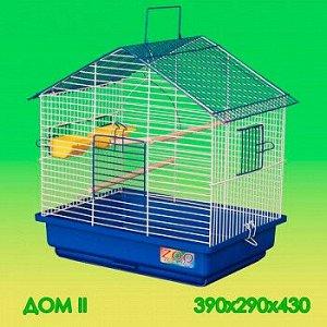 Клетка для птиц Дом-2 большой поддон 39*29*43см