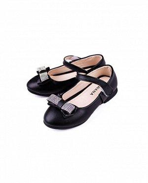 Туфли для девочки черные,размер 31-36 Цвет: черный