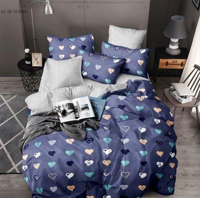 Уютных снов Шикарный поплин, пледы и одеяла! — КПБ 2-х. сп.с евро на резинке — Для дома