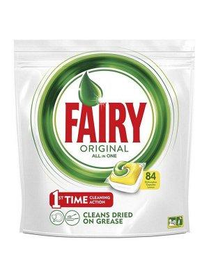 FAIRY All in 1 Средство для мытья посуды в капсулах д/автоматических посудомоечных машин Лимон 84шт