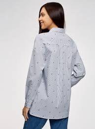 Рубашка хлопковая oversize Oodji