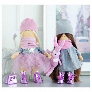 Интерьерные куклы «Подружки Вики и Ники- на праздник» набор для шитья,15,6 ? 22.4 ? 5.2 см